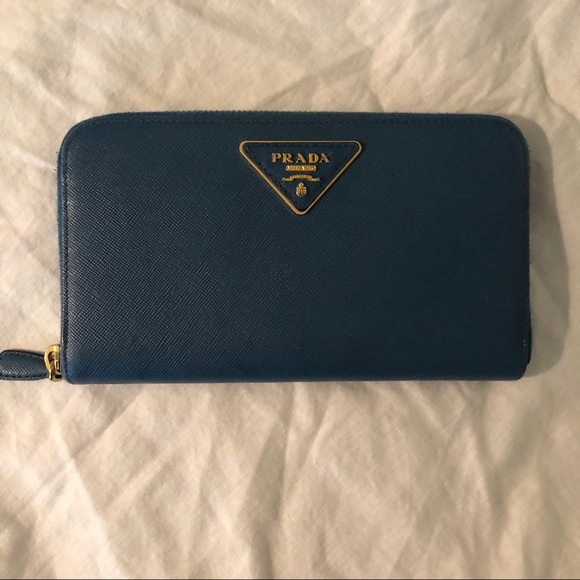 ad2b12fa7a2b Prada Bags | Wallet Blue Nwot Large | Poshmark